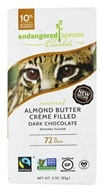 Endangered Species - Dark Chocolate Bar 72% Cocoa Almond Butter Crème Filled - 3 oz.