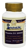 Nutralife - Vitamin D3 1000 IU - 100 Tablets