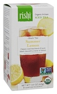 Rishi Tea - Organic Artisan Summer Lemon Black Iced Tea - 5 Sachet(s)