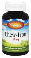 Carlson Labs - Chew-Iron Natural Grape Flavor 27 mg. - 60 Tablets