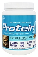 Nutrition 53 - Protein1 All Natural Protein Shake Dutch Chocolate - 1.4 lbs.