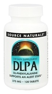 Source Naturals - DLPA DL-Phenylalanine 375 mg. - 120 Tablets