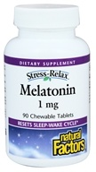 Natural Factors - Stress-Relax Melatonin 1 mg. - 90 Chewable Tablets