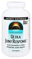 Source Naturals - Ultra Joint Response Glucosamine & MSM - 180 Tablets