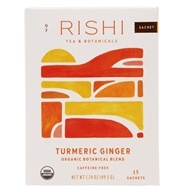 Rishi Tea - Organic Herbal Tea Caffeine-Free Turmeric Ginger - 15 Tea Bags