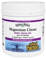 Natural Factors - Stress-Relax Magnesium Citrate Berry Drink Mix - 8.8 oz.
