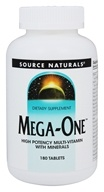 Source Naturals - Mega-One High Potency Multi-Vitamin with Minerals - 180 Tablets