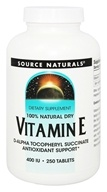 Source Naturals - Vitamin E 400 IU - 250 Tablets