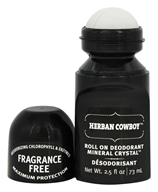Herban Cowboy - Deodorant Roll On Maximum Protection Mineral Crystal Fragrance Free - 2.5 oz.