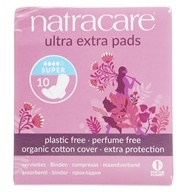 Natracare - Organic Cotton Cover Ultra Extra Pads Super - 10 Pad(s)