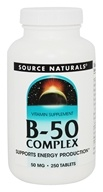 Source Naturals - B-50 Complex 50 mg. - 250 Tablets