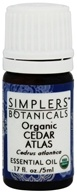 Simplers Botanicals - Organic Cedar Atlas Essential Oil - 0.17 oz.