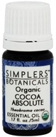 Simplers Botanicals - Organic Cocoa Absolute Essential Oil - 0.17 oz.