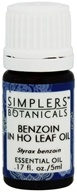 Simplers Botanicals - Benzoin in HO Leaf Oil Essential Oil - 0.17 oz.