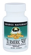 Source Naturals - Turmeric 500 mg. - 30 Tablets