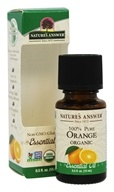 Nature's Answer - Organic Essential Oil 100% Pure Orange - 0.5 oz.