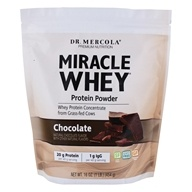 Dr. Mercola Premium Products - Miracle Whey Protein Powder Chocolate - 1 lb.