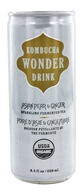 Kombucha Wonder Drink - Organic Sparkling Fermented Tea Asian Pear and Ginger - 8.4 oz.