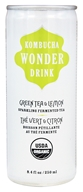 Kombucha Wonder Drink - Organic Sparkling Fermented Tea Green Tea and Lemon - 8.4 oz.