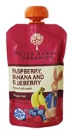 Peter Rabbit Organics - Organic Fruit Snack 100% Pure Raspberry, Banana and Blueberry - 4 oz.