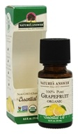 Nature's Answer - Organic Essential Oil 100% Pure Grapefruit - 0.5 oz.