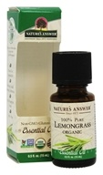 Nature's Answer - Organic Essential Oil 100% Pure Lemongrass - 0.5 oz.