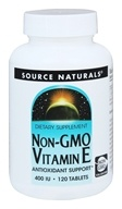 Source Naturals - Non-GMO Vitamin E 400 IU - 120 Tablets