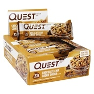 Quest Bar Protein Bars Box Chocolate Chip Cookie Dough - 12 Bars