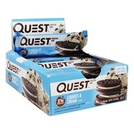 Quest Nutrition - Quest Bar Protein Bar Cookies & Cream - 12 Bars
