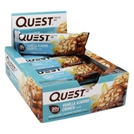 Quest Nutrition - Quest Bar Protein Bar Vanilla Almond Crunch - 12 Bars