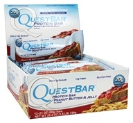 Quest Nutrition - Quest Bar Protein Bar Peanut Butter & Jelly - 12 Bars