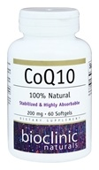 Bioclinic Naturals - CoQ10 200 mg. - 60 Softgels