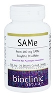 Bioclinic Naturals - SAMe 200 mg. - 30 Enteric-Coated Tablets