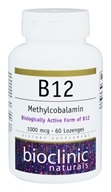 Bioclinic Naturals - B12 Methylcobalamin 1000 mcg. - 60 Lozenges