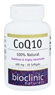 Bioclinic Naturals - CoQ10 400 mg. - 30 Softgels