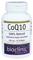 Bioclinic Naturals - CoQ10 200 mg. - 30 Softgels