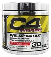Cellucor - C4 Ripped Pre-Workout Explosive Energy and Cutting Formula 30 Servings Fruit Punch - 180 Grams
