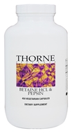 Thorne Research - Betaine HCL & Pepsin - 450 Vegetarian Capsules