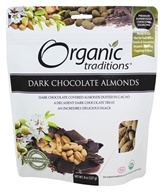 Organic Traditions - Dark Chocolate Almonds - 8 oz.