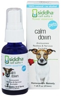 Siddha - Cell Salts + Flower Essences Pets Calm Down Homeopathic Remedy - 1 oz.