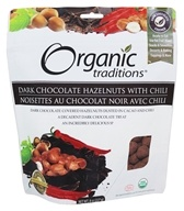 Organic Traditions - Dark Chocolate Hazelnuts with Chili - 8 oz.