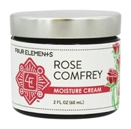 Four Elements Herbals - Moisture Cream Rose Comfrey - 2 oz.