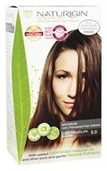 Naturigin - 100% Permanent Hair Colour Light Chocolate Brown 5.0 - 3.9 oz.