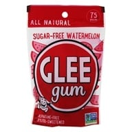 Glee Gum - All Natural Sugar-Free Chewing Gum Wild Watermelon - 75 Piece(s)