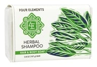 Four Elements Herbals - Herbal Shampoo Bar Hair & Body Soap - 3.8 oz.