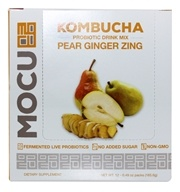 TracHealth - Kombucha Probiotic Drink Mix Pear Ginger Zing - 12 Pack(s)