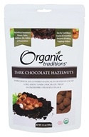 Organic Traditions - Dark Chocolate Hazelnuts - 3.5 oz.