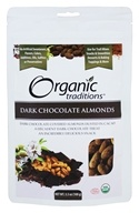Organic Traditions - Dark Chocolate Almonds - 3.5 oz.