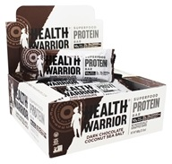 Health Warrior - Superfood Protein Bar Dark Chocolate Coconut Sea Salt - 12 Bars