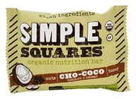 Simple Squares - Organic Gluten-Free Nuts & Honey Nutrition Bar Cho-Coco Chocolate + Coconut - 1.7 oz.